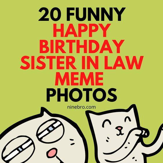 20 Funny Happy Birthday Sister In Law Meme Photos