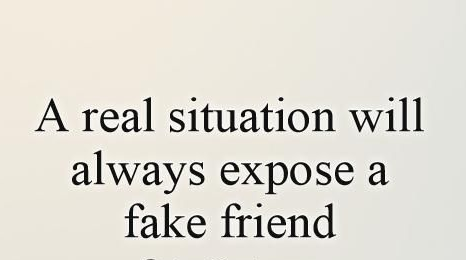 A Real Situation Fake Friend Quotes