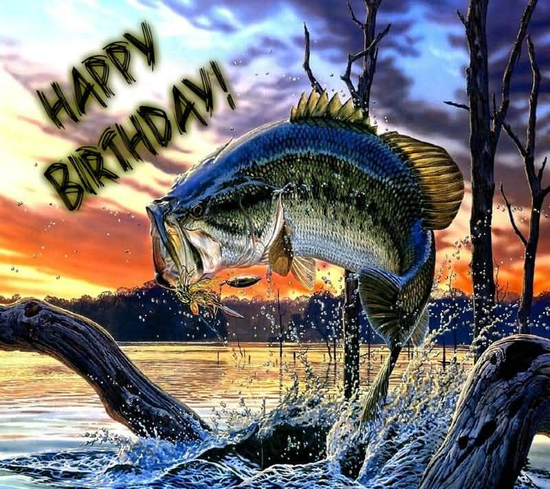 Amazing Fish Jump Happy Birthday Fishing Meme