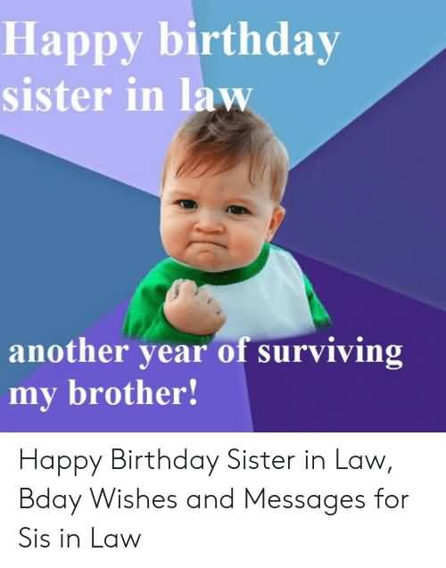 Anoter Year Of Happy Birthday Sister In Law Meme