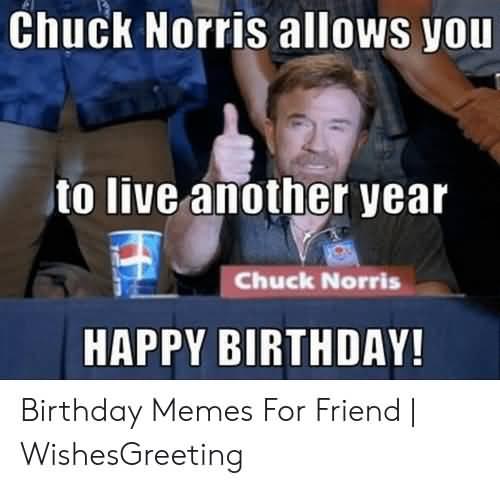 Chuck Norris Allows Chuck Norris Birthday Meme