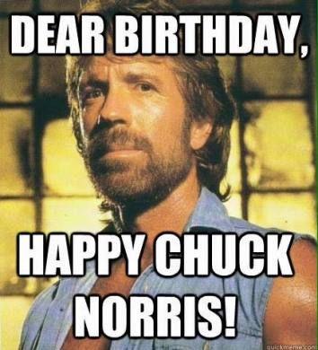Dear Birthday Happy Chuck Norris Birthday Meme