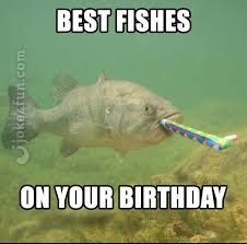 Fishes On Birthday Happy Birthday Fishing Meme