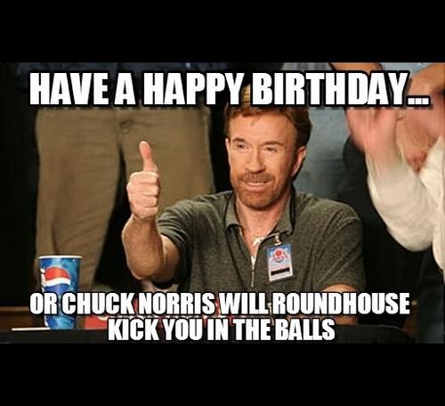 Happy A Happy Chuck Norris Birthday Meme