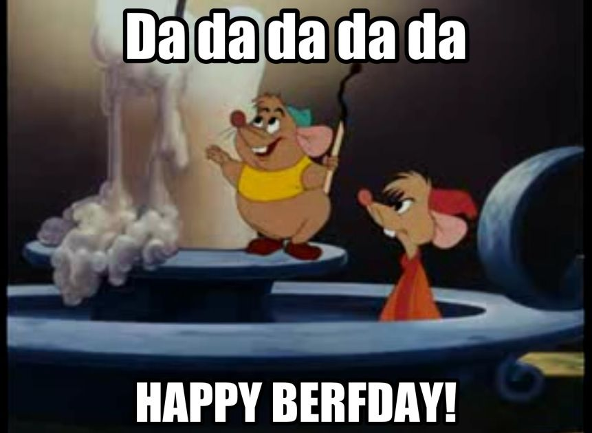 Happy Berfday Disney Birthday Meme