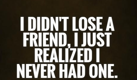 I Did Not Lose Fake Friend Quotes
