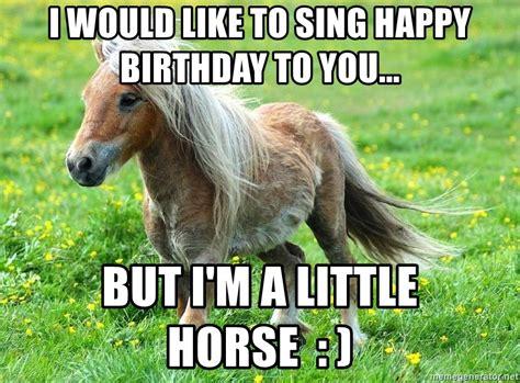 I Would Like Happy Birthday Horse Meme