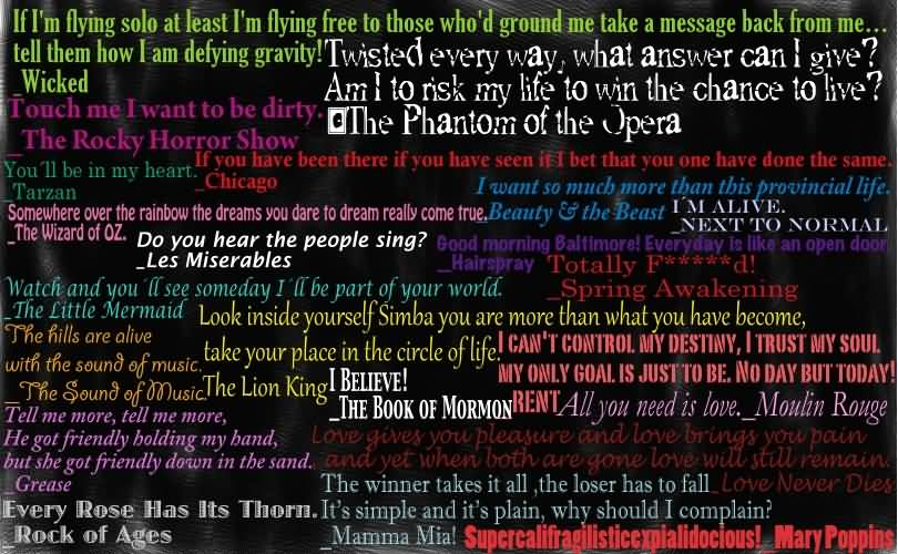 If Im Flying Broadway Quotes