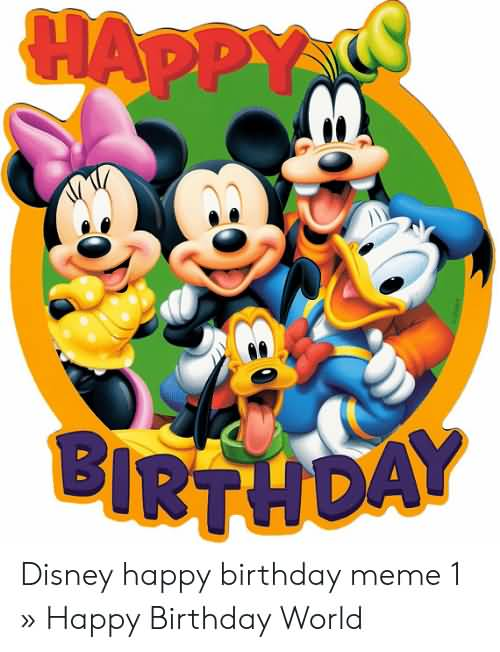 Nice Happy Birthday Disney Birthday Meme