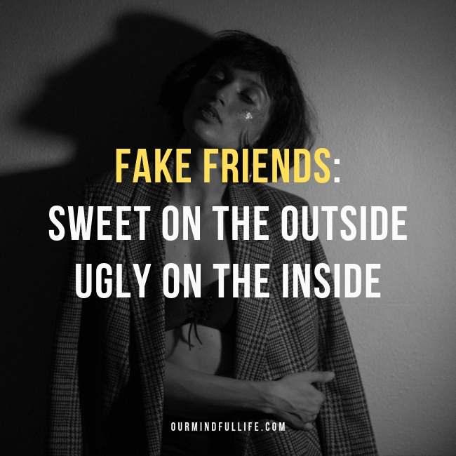 Sweet On The Fake Friend Quotes