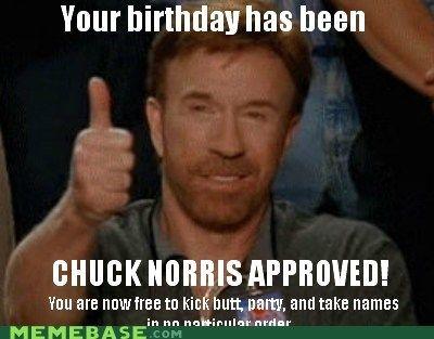 Your Birthday Has Chuck Norris Birthday Meme