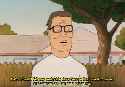 Detroit Hasn't Felt Any Hank Hill Quotes