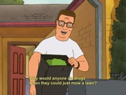 Why Would Anyone Do Drugs Hank Hill Quotes