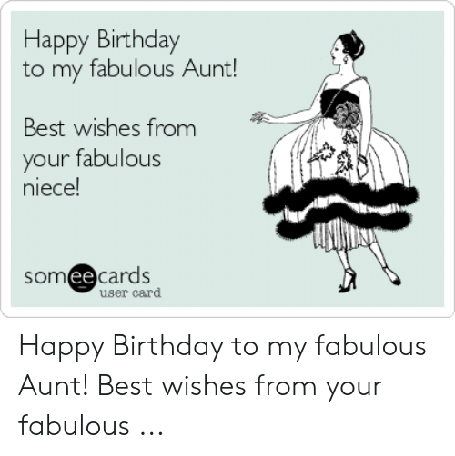 Best Wishes From Your Happy Birthday Aunt Meme
