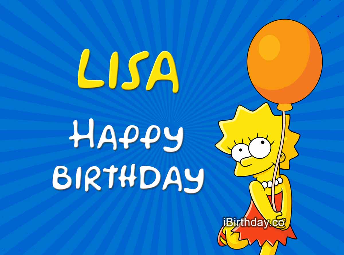 Cute Lisa With Baloon Happy Birthday Lisa Meme