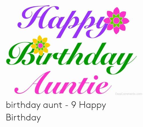 Happy Birthday Auntie Happy Birthday Aunt Meme