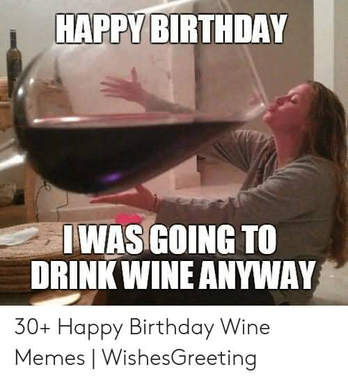 I Was Going To Happy Birthday Wine Meme