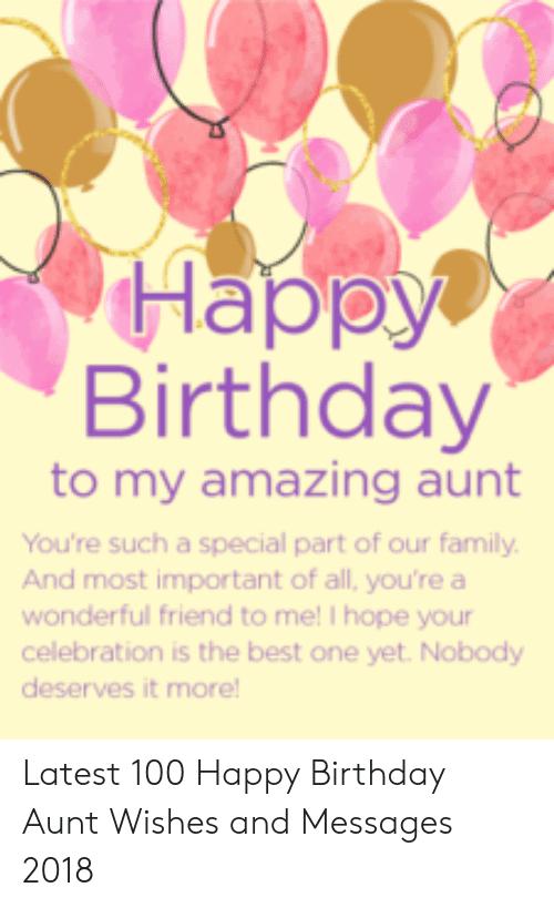 To My Amazing Aunt Happy Birthday Aunt Meme
