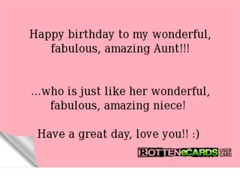 Who Is Just Like Happy Birthday Aunt Meme
