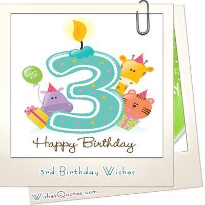 3rd Birthday Graphic Card 3rd Birthday Wishes