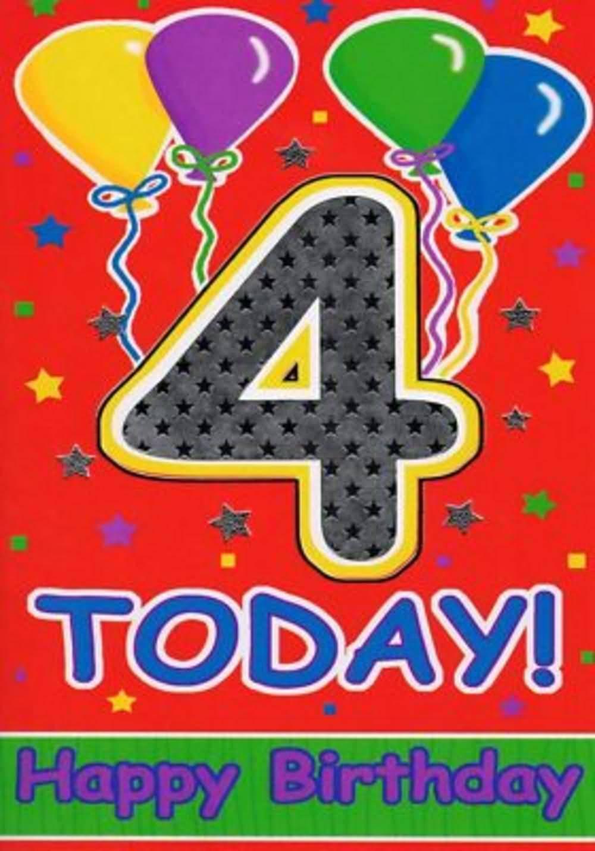 4 Today Happy Birthday 4th Birthday Wishes