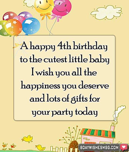 A Happy 4th Birthday 4th Birthday Wishes