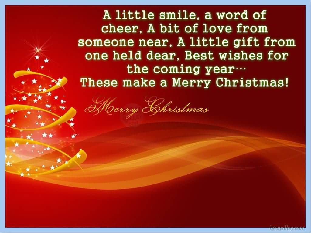A Little Smile A Word Advance Merry Christmas Quotes