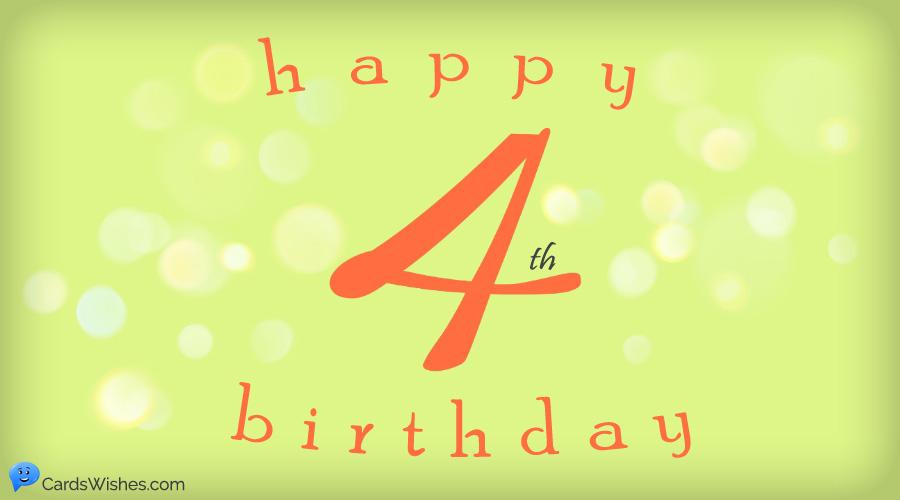 Beautiful Wishing Graphic 4th Birthday Wishes