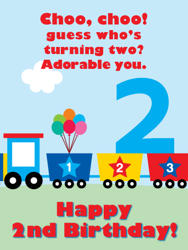 Choo Choo Guess Who 2nd Birthday Wishes