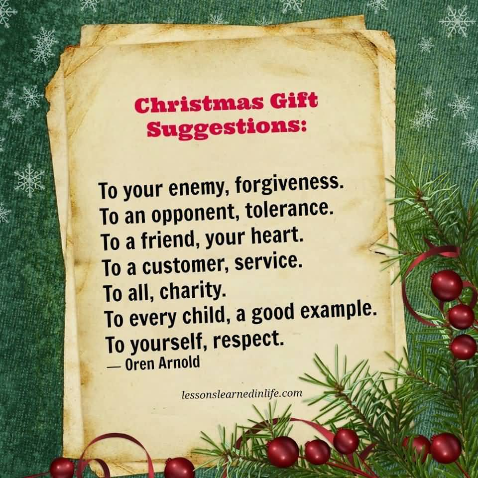 Christmas Gift Suggestions To Christmas Gift Quotes