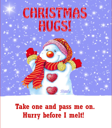 Christmas Hugs! Take One Advance Merry Christmas Quotes