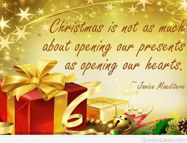 Christmas Is Not As Christmas Gift Quotes