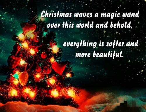 Christmas Waves A Magic Christmas Tree Quotes