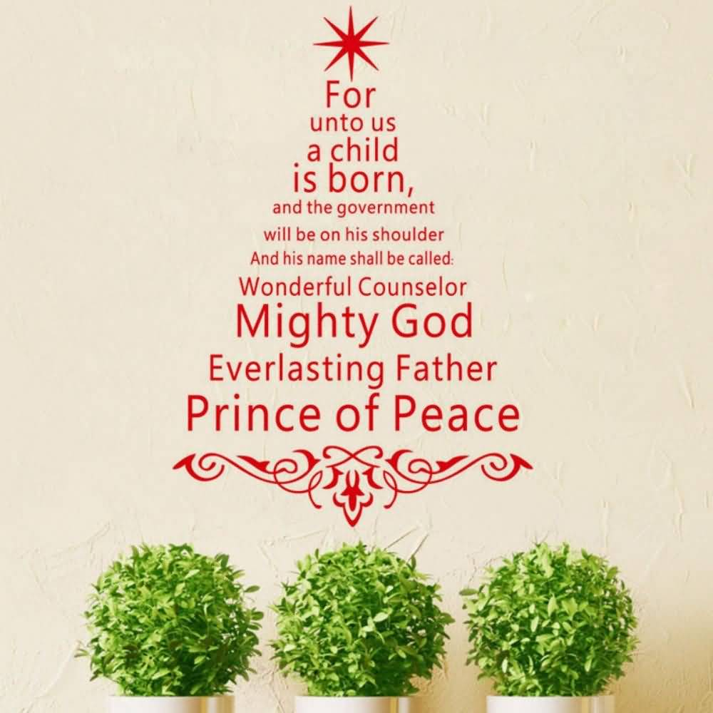 For Unto Us A Christmas Tree Quotes