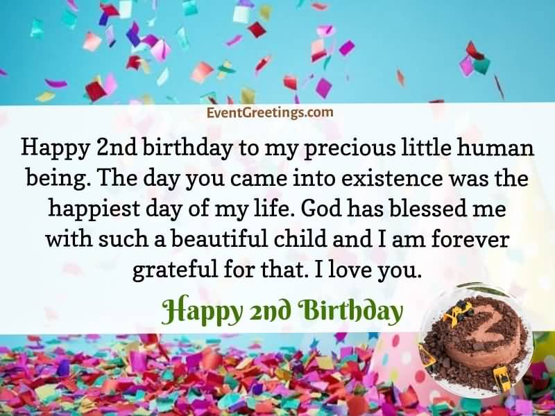 Happy 2nd Birthday To 2nd Birthday Wishes