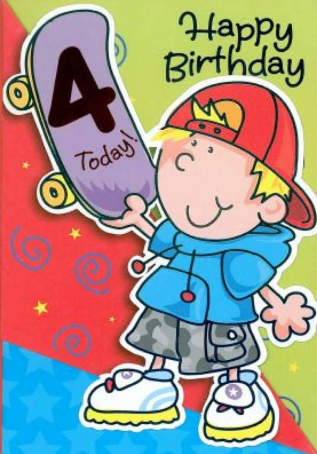 Happy Birthday Cool Boy 4th Birthday Wishes