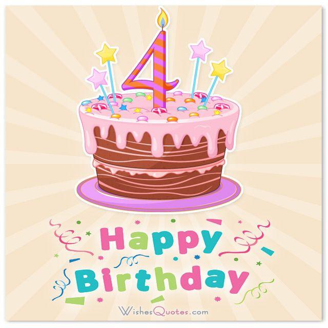 Happy Birthday Dude 4th Birthday Wishes