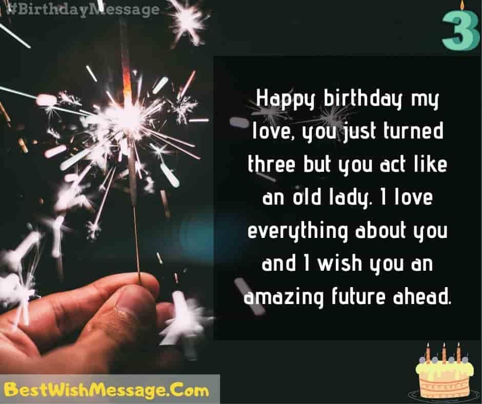 Happy Birthday My Love 3rd Birthday Wishes