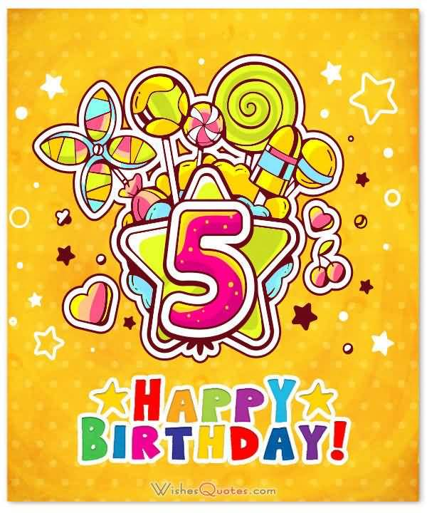 Happy Birthday Wishing Card 5th Birthday Wishes