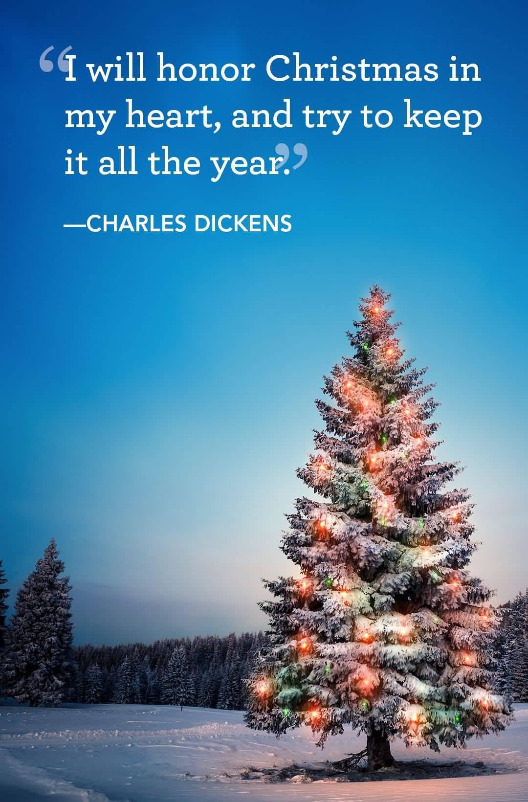 I Will Honor Christmas Christmas Tree Quotes