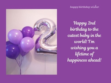 I'm Wishing You A 2nd Birthday Wishes