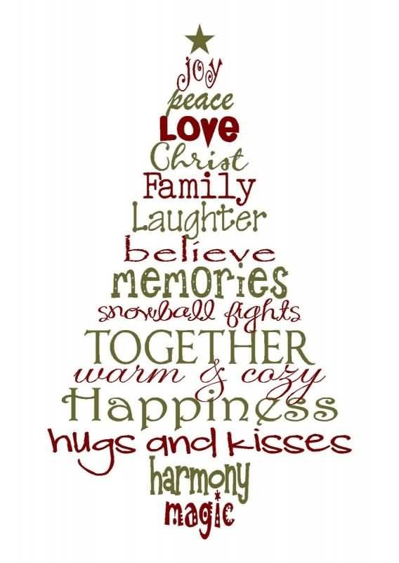 Joy Peace Love Christ Christmas Tree Quotes