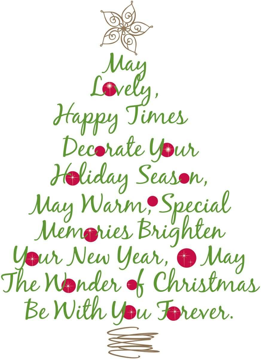 May Lovely Happy Times Christmas Tree Quotes