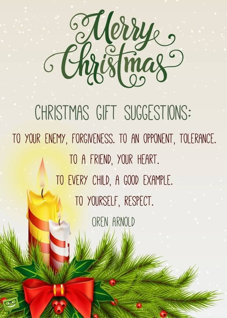 Merry Christmas Gift Suggestions Christmas Gift Quotes