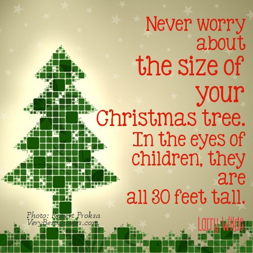 Never Worry About The Christmas Tree Quotes