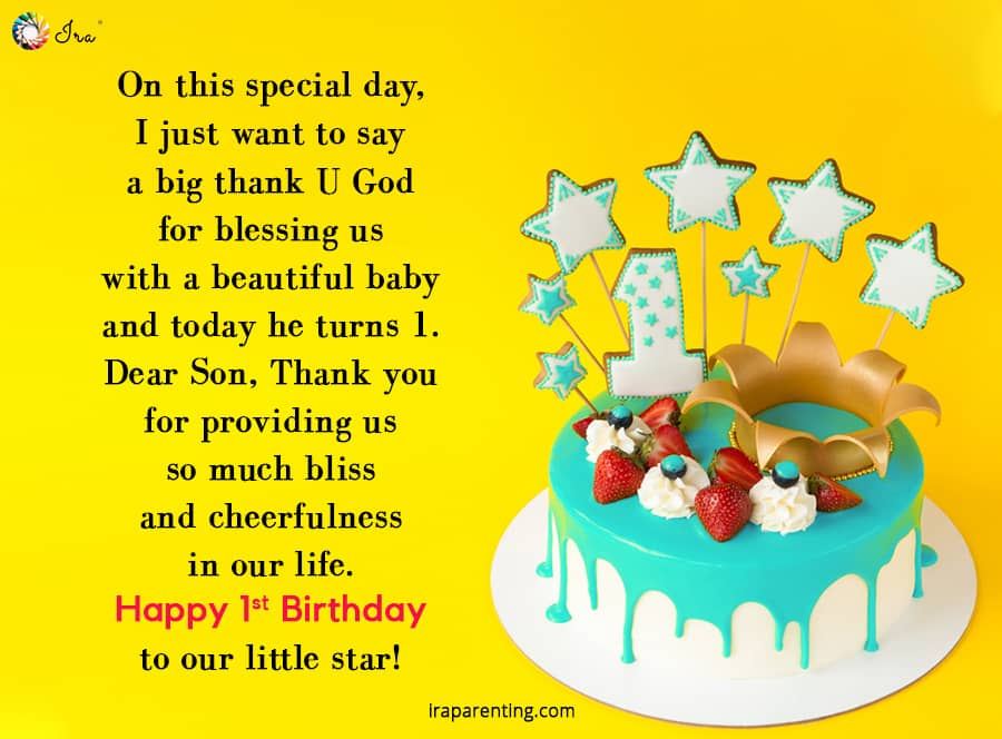 On This Special Day 1st Birthday Wishes