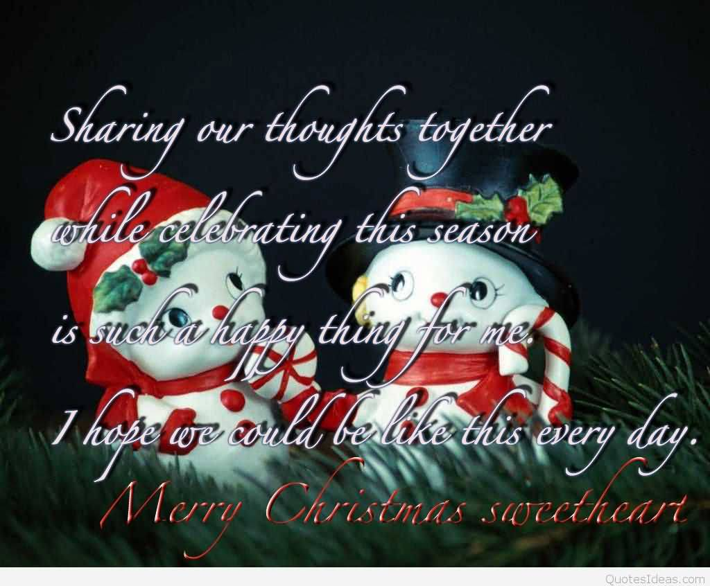 Sharing Our Thoughts Together Advance Merry Christmas Quotes