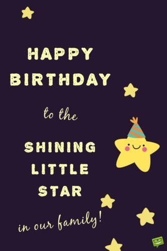 Shining Little Star In 5th Birthday Wishes