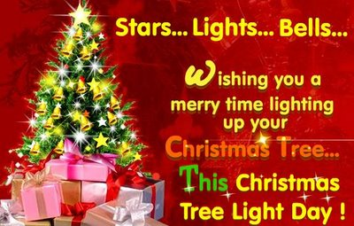 Stars Lights Bells Wishing Advance Merry Christmas Quotes
