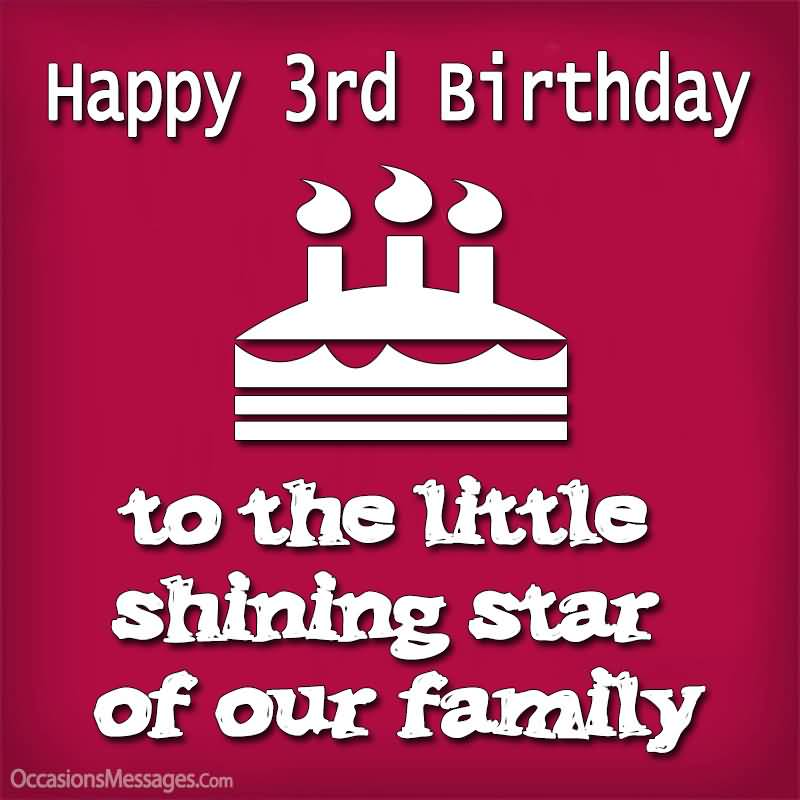 To The Little Shining 3rd Birthday Wishes